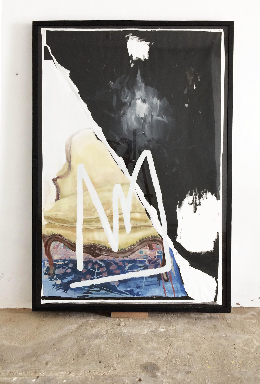 Olvido continuamente<br/>Oil on canvas<br/>150 x190 cm
