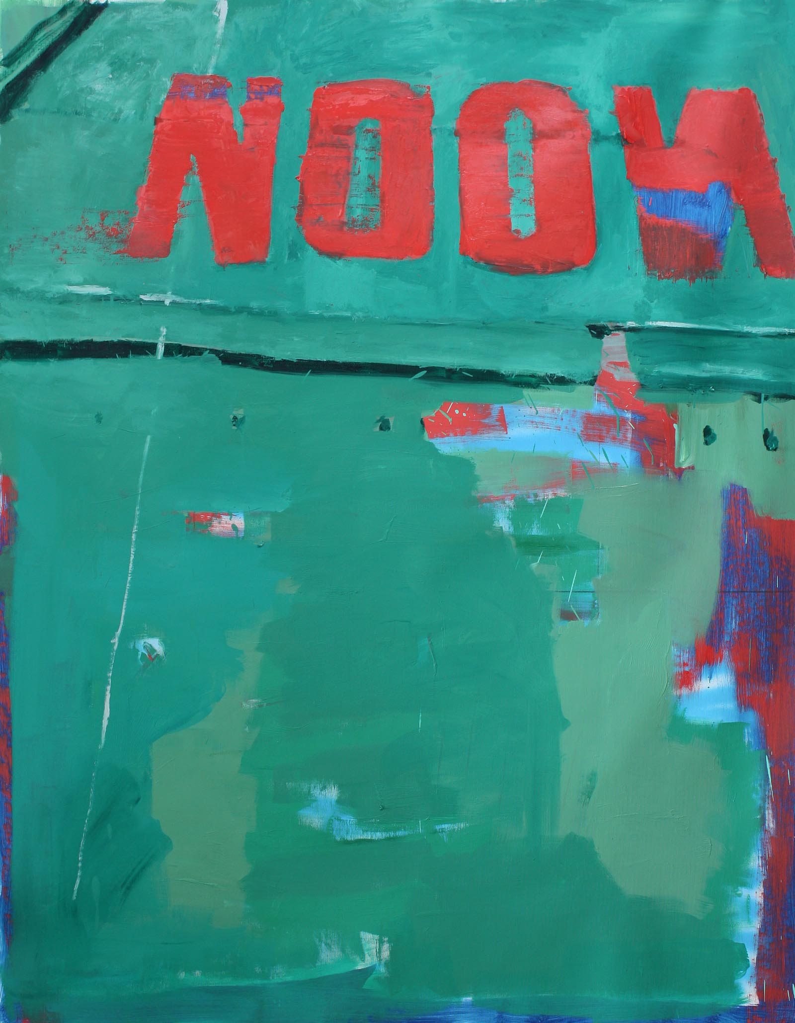 NOON<br/>Oil and spray on canvas<br/> 146 x 130 cm