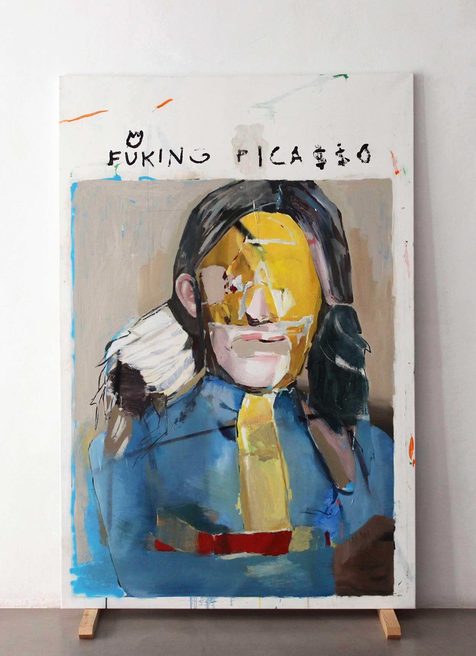 ESTÁS EN TODOS LADOS<br/>Oil canvas<br/> 195 x 130 cm