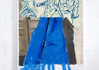 DANGER<br/>Oil on canvas<br/> 195 X 116 cm